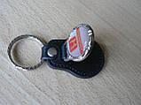 Брелок кожзам округлый HONDA  логотип эмблема Хонда автомобильный на авто ключи комбинированный , фото 3