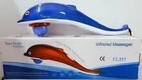Вибромассажер Дельфин Dolphin Hammer Infrared Massager JT-889 большой 3 насадки, массажер для тела