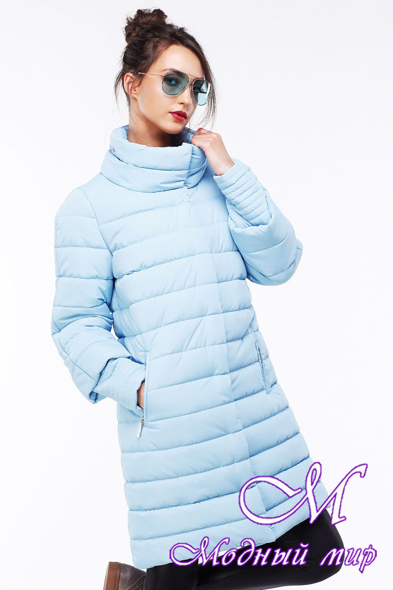 Длинная зимняя куртка больших размеров (р. 44-54) арт. Анетта