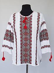 Вязаная женская блуза-вышиванка