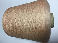 Вискоза 60%, хлопок 20%, шерсть 5%, нейлон 15% абрикосового цвета. Размер 2/30.