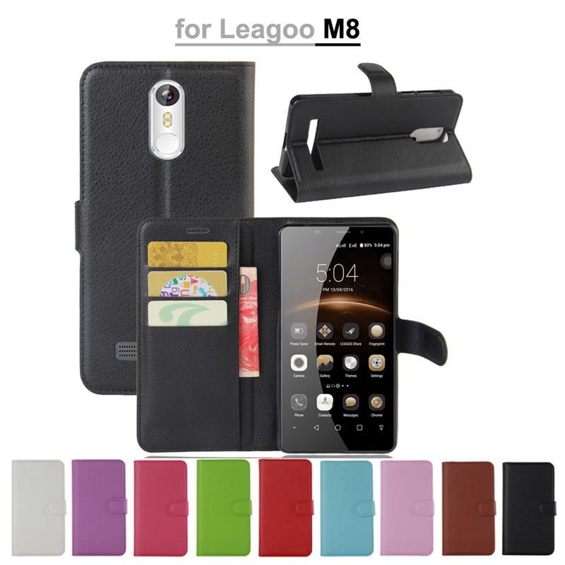 Чехол-книжка магнит для Leagoo M8 и M8 Pro  / Стекло оригинальное /
