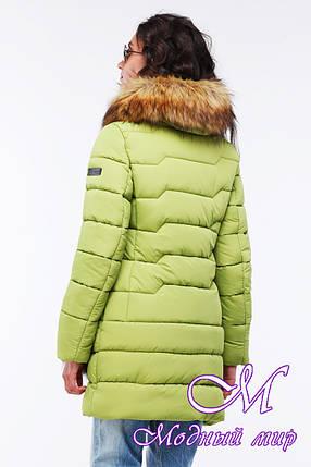 Женская теплая зимняя куртка с мехом (р. 42-56) арт. Гелана, фото 2