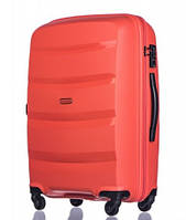 Чемодан большой дорожный польский пластиковый на 4 колесах красный 100 л Puccini ACAPULCO PP012A 9
