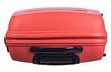 Чемодан большой дорожный польский пластиковый на 4 колесах красный 100 л Puccini ACAPULCO PP012A 9, фото 4