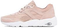 Женские кроссовки Puma Trinomic R698 Soft Pack Pink/White (в стиле Пума Триномик) розовые