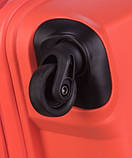 Чемодан большой дорожный польский пластиковый на 4 колесах красный 100 л Puccini ACAPULCO PP012A 9, фото 7