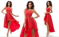 Платье женское удлиненное свадебный атлас
