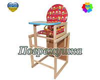 Детский стульчик для кормления Minions - Красный