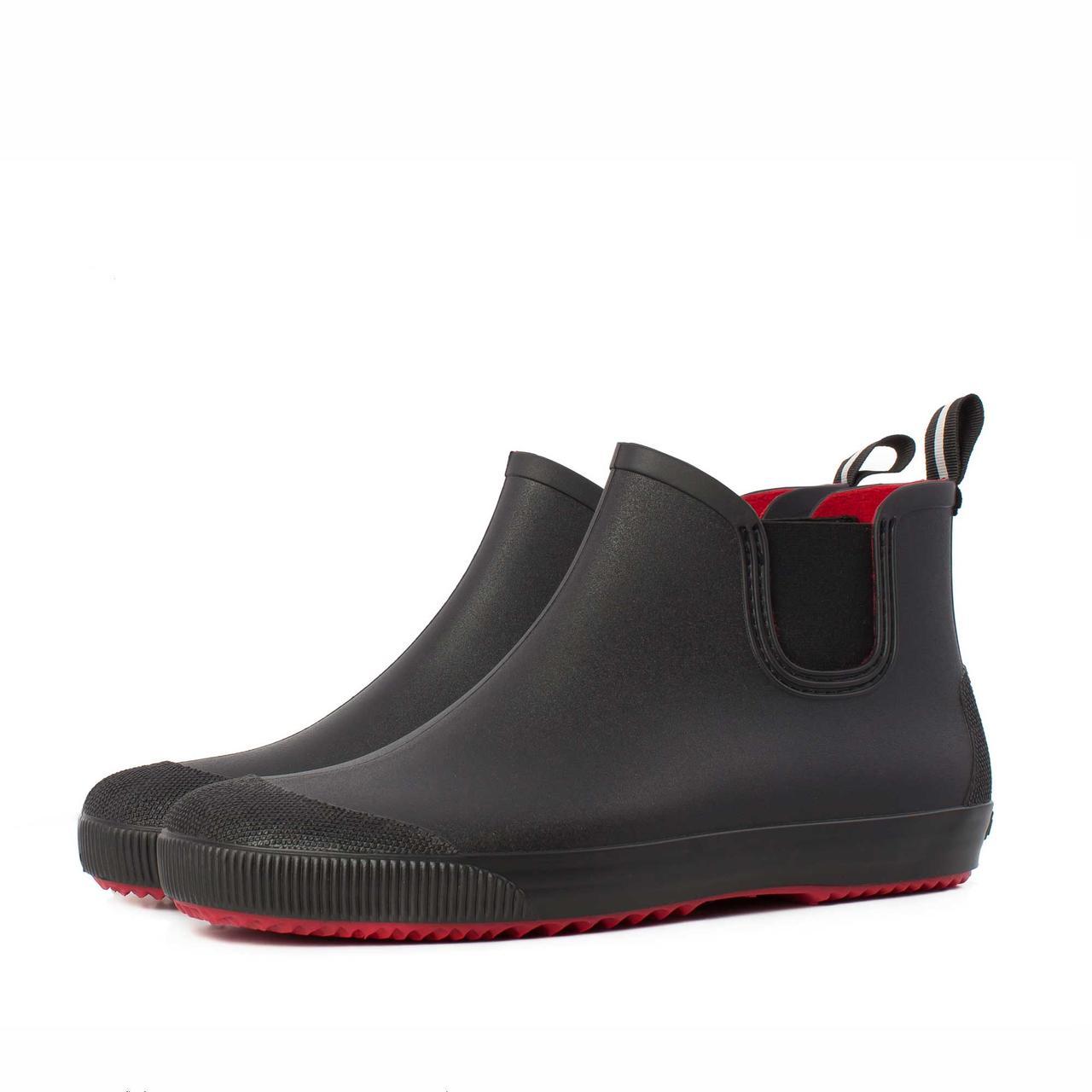 Мужские ботинки NORDMAN BEAT ПС-30 черные с красн подошвой