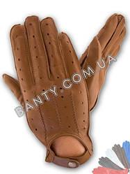 Перчатки водителя мужские кожаные