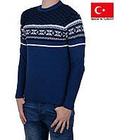 Полушерстяной пуловер с орнаментом.