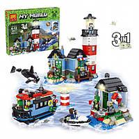 """Конструктор Lele 33017 Minecraft """"Маяк 3 в 1"""" (аналог LEGO Creator 31051), 553 дет"""