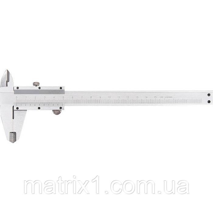 Штангенциркуль, 150 мм, цена деления  0,02 мм, металлический, с глубиномером// MTX