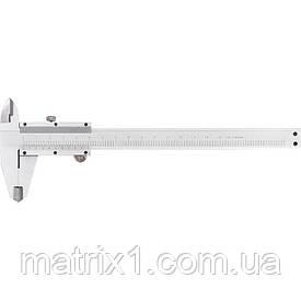 Штангенциркуль, 200 мм, цена деления  0,02 мм, металлический, с глубиномером// MTX