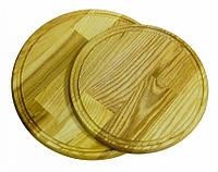 Доска разделочная круглая с желобом - 360 мм ДП360