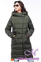 Женское зимнее стеганное пальто с удлиненной спинкой (р. 42-56) арт. Рива