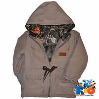 Демисезонная куртка-парка, для детей 2-6 лет (рост 92-116 см)