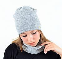 "Комплект ""Ангора"" хомут-шапка с флилсом, фото 1"