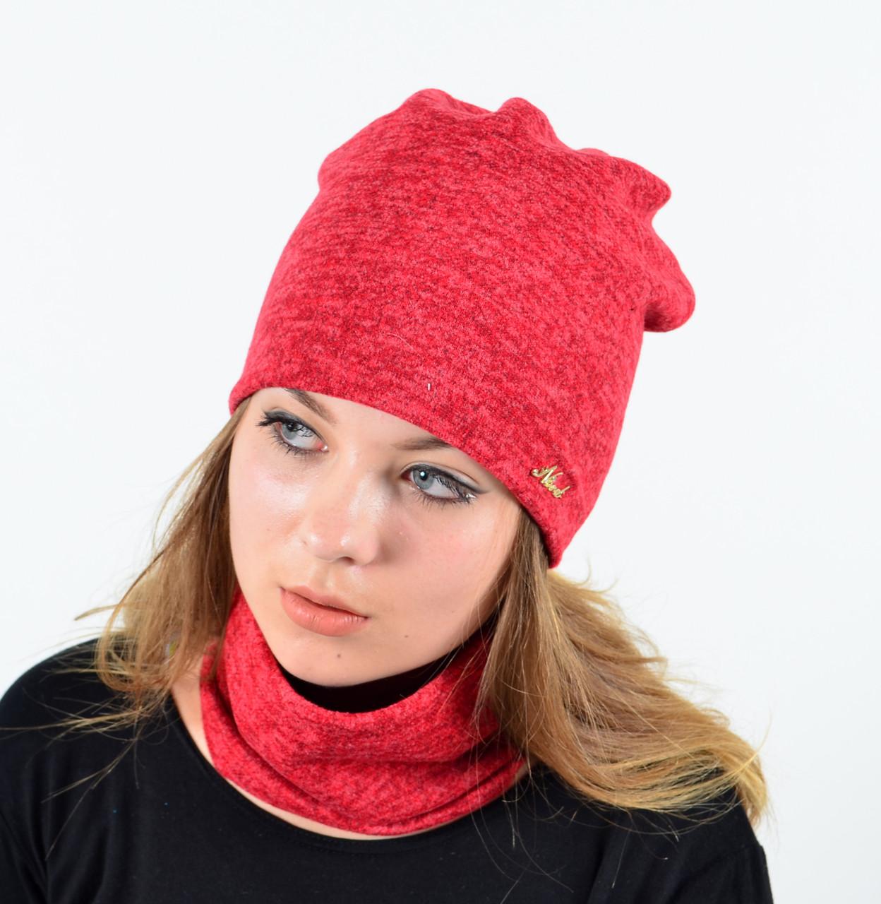 "Комплект ""Ангора"" хомут-шапка с флисом"