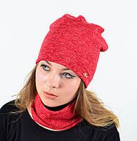 "Комплект ""Ангора"" хомут-шапка с флисом, фото 1"