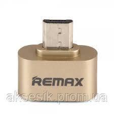 Переходник Remax OTG Micro-USB RA-OTG\ Gold