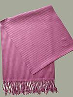 Палантин F мужской 70х180, хб+акрил ПОЛОСКА  цв розовый, цв. 3