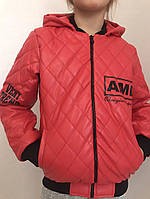 Детские кожаные куртки р. 134-164 341-5 (341-5)
