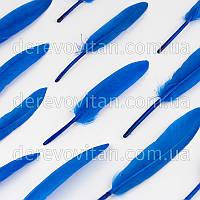 Перья декоративные, синие, 15 см, 20 шт.