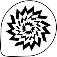 Трафарет для украшения торта (звезда) М12
