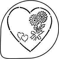 Трафарет для украшения торта (сердце) MASK136