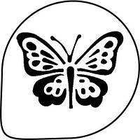 Трафарет для украшения торта (бабочка) MASK27