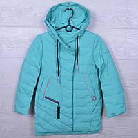 Куртка подростковая демисезонная Classic #ВМ708 для девочек. 128-152 см (8-12 лет). Мята. Оптом., фото 1