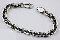 Якорный серебряный браслет