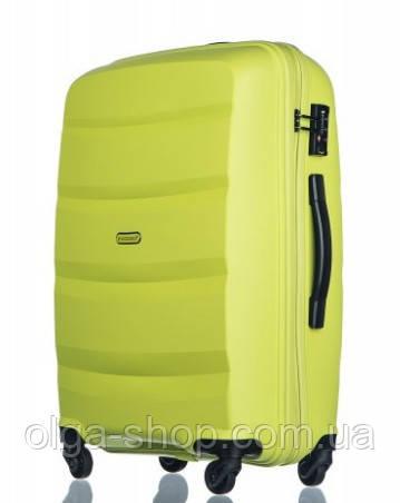 Чемодан большой дорожный польский пластиковый на 4 колесах зеленый салатовый 100 л Puccini ACAPULCO PP012B 5