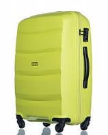 Чемодан большой дорожный польский пластиковый на 4 колесах зеленый салатовый 100 л Puccini ACAPULCO PP012B 5, фото 1