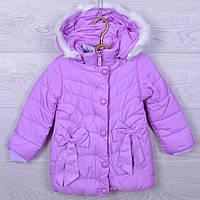 """Куртка детская демисезонная """"Бантики"""" #S73 для девочек. 4-6 лет. Нежно-сиреневая. Оптом., фото 1"""