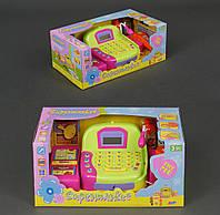 Кассовый аппарат микрофоном, звук, на батарейке, в коробке.
