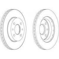 Тормозной диск передний(R13) METELLI 23-0411