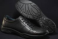 Кожаные мужские  черные кроссовки Prime больших размеров 47,50