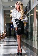 Молодежная женская блузка с принтом