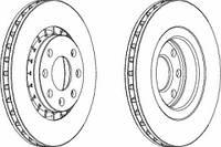Тормозной диск передний(R14) FERODO DDF206