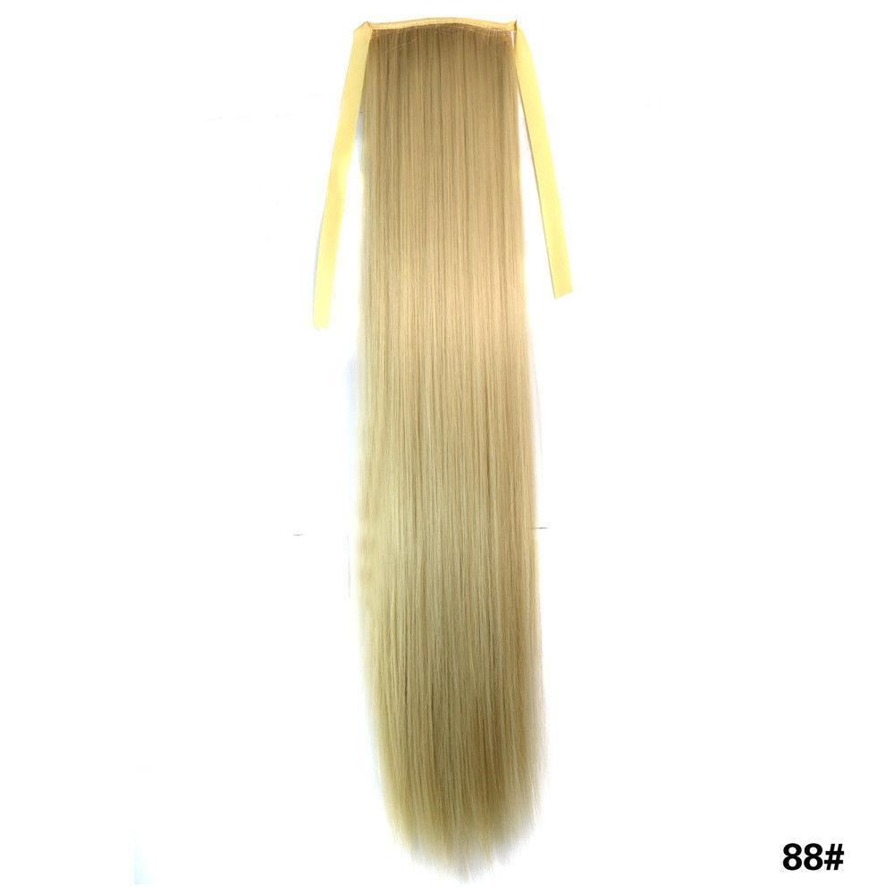 Искусственный хвост на ленте оттенок №88 блонд пепельный
