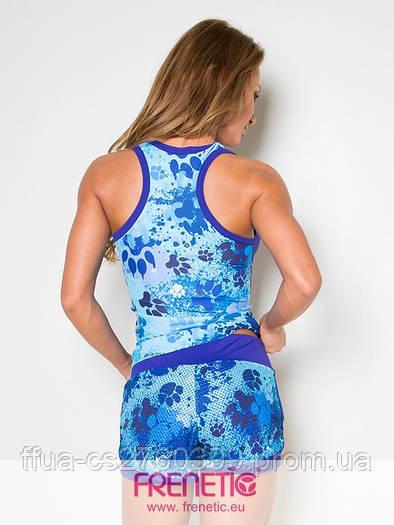 Топ синий спортивный женский Frenetic майка