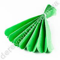 Помпон из тишью, зеленый, 25 см
