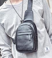 Мужская кожаная сумка. Модель 61364, фото 2