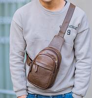 Мужская кожаная сумка. Модель 61364, фото 7