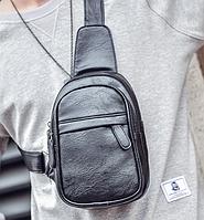 Мужская кожаная сумка. Модель 61364, фото 9
