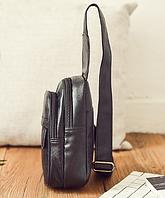 Мужская кожаная сумка. Модель 61364, фото 4