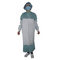 Халат хирургический SteriBata, стерильный, усиленный, рукав с манжетой